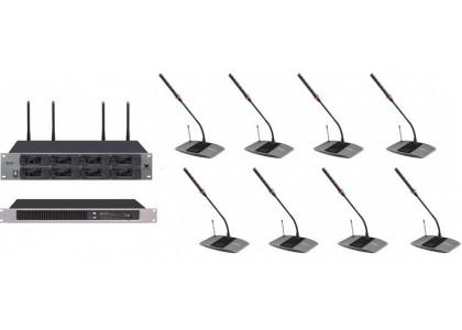Беспроводная конференц-система BKR KX-D818 для малых и средних переговорных, а также для обеспечения видеоконференцсвязи