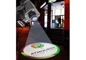 Новый мощный гобо-проектор для рекламы на улице и фасадах