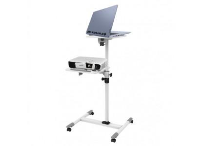 Мобильный проекционный столик на колесиках ITech TS-6 для проектора и ноутбука